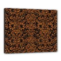 DAMASK2 BLACK MARBLE & RUSTED METAL (R) Canvas 20  x 16  View1