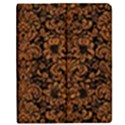 DAMASK2 BLACK MARBLE & RUSTED METAL (R) Apple iPad Mini Flip Case View1
