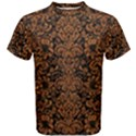 DAMASK2 BLACK MARBLE & RUSTED METAL (R) Men s Cotton Tee View1