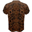 DAMASK2 BLACK MARBLE & RUSTED METAL (R) Men s Cotton Tee View2