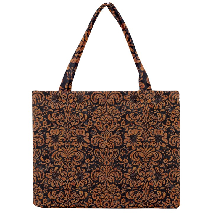 DAMASK2 BLACK MARBLE & RUSTED METAL (R) Mini Tote Bag