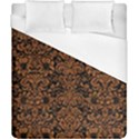 DAMASK2 BLACK MARBLE & RUSTED METAL (R) Duvet Cover (California King Size) View1