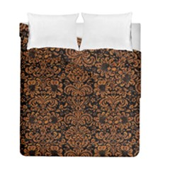 Damask2 Black Marble & Rusted Metal (r) Duvet Cover Double Side (full/ Double Size)