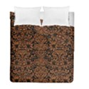 DAMASK2 BLACK MARBLE & RUSTED METAL (R) Duvet Cover Double Side (Full/ Double Size) View1