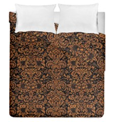 Damask2 Black Marble & Rusted Metal (r) Duvet Cover Double Side (queen Size)