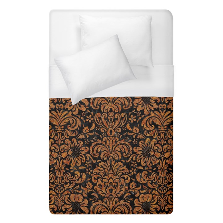 DAMASK2 BLACK MARBLE & RUSTED METAL (R) Duvet Cover (Single Size)