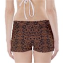 DAMASK2 BLACK MARBLE & RUSTED METAL (R) Boyleg Bikini Wrap Bottoms View2