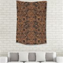 DAMASK2 BLACK MARBLE & RUSTED METAL (R) Small Tapestry View2