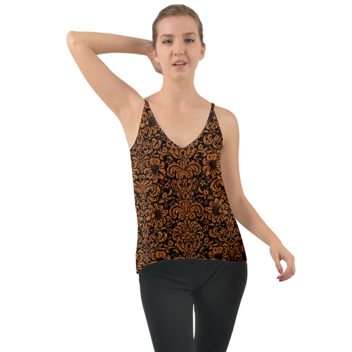 DAMASK2 BLACK MARBLE & RUSTED METAL (R) Cami