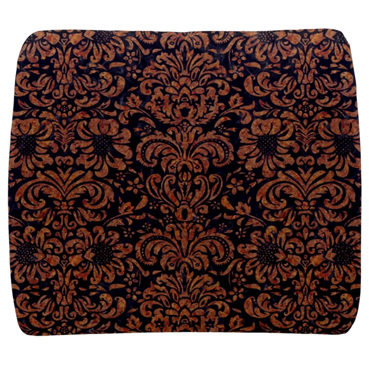 DAMASK2 BLACK MARBLE & RUSTED METAL (R) Back Support Cushion