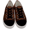 DAMASK2 BLACK MARBLE & RUSTED METAL (R) Men s Low Top Canvas Sneakers View1