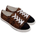DAMASK2 BLACK MARBLE & RUSTED METAL (R) Women s Low Top Canvas Sneakers View3