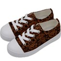 DAMASK2 BLACK MARBLE & RUSTED METAL (R) Kids  Low Top Canvas Sneakers View2