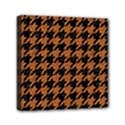 HOUNDSTOOTH1 BLACK MARBLE & RUSTED METAL Mini Canvas 6  x 6  View1