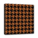 HOUNDSTOOTH1 BLACK MARBLE & RUSTED METAL Mini Canvas 8  x 8  View1