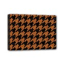 HOUNDSTOOTH1 BLACK MARBLE & RUSTED METAL Mini Canvas 7  x 5  View1