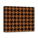 HOUNDSTOOTH1 BLACK MARBLE & RUSTED METAL Canvas 10  x 8  View1