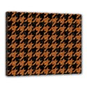 HOUNDSTOOTH1 BLACK MARBLE & RUSTED METAL Canvas 20  x 16  View1
