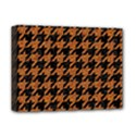 HOUNDSTOOTH1 BLACK MARBLE & RUSTED METAL Deluxe Canvas 16  x 12   View1