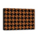 HOUNDSTOOTH1 BLACK MARBLE & RUSTED METAL Deluxe Canvas 18  x 12   View1