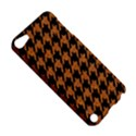 HOUNDSTOOTH1 BLACK MARBLE & RUSTED METAL Apple iPod Touch 5 Hardshell Case View5