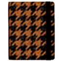 HOUNDSTOOTH1 BLACK MARBLE & RUSTED METAL Apple iPad 3/4 Flip Case View2