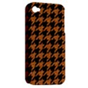 HOUNDSTOOTH1 BLACK MARBLE & RUSTED METAL Apple iPhone 4/4S Hardshell Case (PC+Silicone) View2