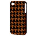 HOUNDSTOOTH1 BLACK MARBLE & RUSTED METAL Apple iPhone 4/4S Hardshell Case (PC+Silicone) View3
