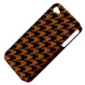 HOUNDSTOOTH1 BLACK MARBLE & RUSTED METAL Apple iPhone 4/4S Hardshell Case (PC+Silicone) View4