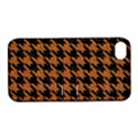 HOUNDSTOOTH1 BLACK MARBLE & RUSTED METAL Apple iPhone 4/4S Hardshell Case with Stand View1
