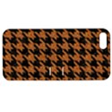 HOUNDSTOOTH1 BLACK MARBLE & RUSTED METAL Apple iPhone 5 Hardshell Case with Stand View1
