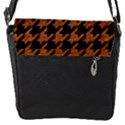 HOUNDSTOOTH1 BLACK MARBLE & RUSTED METAL Flap Covers (S)  View2