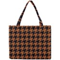 HOUNDSTOOTH1 BLACK MARBLE & RUSTED METAL Mini Tote Bag View1