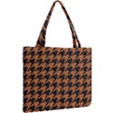 HOUNDSTOOTH1 BLACK MARBLE & RUSTED METAL Mini Tote Bag View2