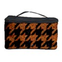 HOUNDSTOOTH1 BLACK MARBLE & RUSTED METAL Cosmetic Storage Case View1