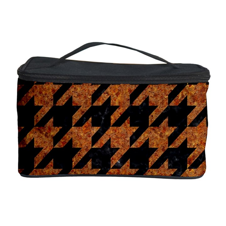 HOUNDSTOOTH1 BLACK MARBLE & RUSTED METAL Cosmetic Storage Case