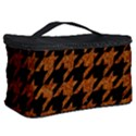 HOUNDSTOOTH1 BLACK MARBLE & RUSTED METAL Cosmetic Storage Case View2