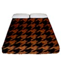 HOUNDSTOOTH1 BLACK MARBLE & RUSTED METAL Fitted Sheet (Queen Size) View1