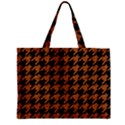 HOUNDSTOOTH1 BLACK MARBLE & RUSTED METAL Zipper Mini Tote Bag View2