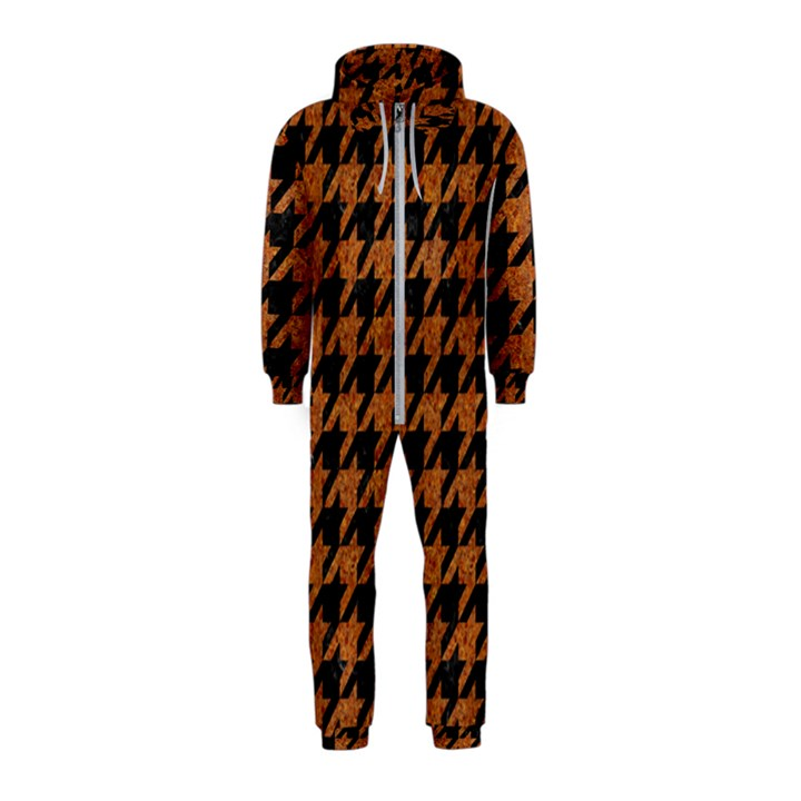 HOUNDSTOOTH1 BLACK MARBLE & RUSTED METAL Hooded Jumpsuit (Kids)