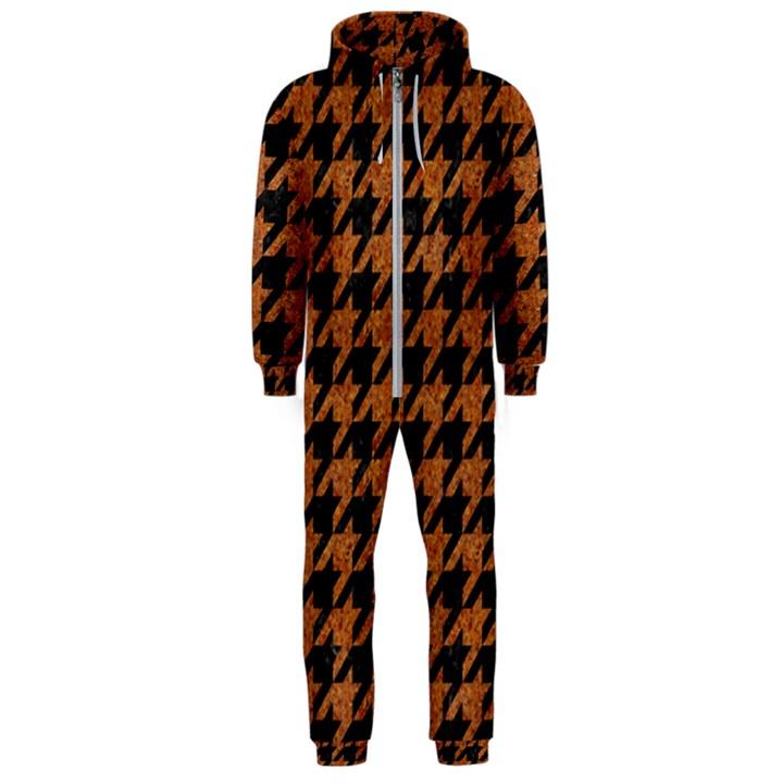 HOUNDSTOOTH1 BLACK MARBLE & RUSTED METAL Hooded Jumpsuit (Men)