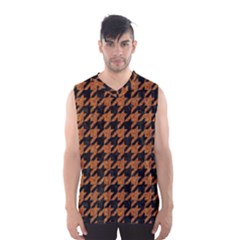 Houndstooth1 Black Marble & Rusted Metal Men s Basketball Tank Top