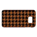 HOUNDSTOOTH1 BLACK MARBLE & RUSTED METAL Galaxy S6 View1