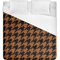 HOUNDSTOOTH1 BLACK MARBLE & RUSTED METAL Duvet Cover (King Size) View1