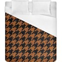 HOUNDSTOOTH1 BLACK MARBLE & RUSTED METAL Duvet Cover (California King Size) View1