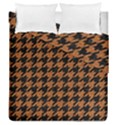 HOUNDSTOOTH1 BLACK MARBLE & RUSTED METAL Duvet Cover Double Side (Queen Size) View1
