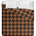 HOUNDSTOOTH1 BLACK MARBLE & RUSTED METAL Duvet Cover Double Side (King Size) View1
