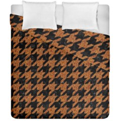 Houndstooth1 Black Marble & Rusted Metal Duvet Cover Double Side (california King Size)