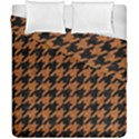 HOUNDSTOOTH1 BLACK MARBLE & RUSTED METAL Duvet Cover Double Side (California King Size) View1