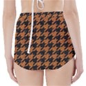 HOUNDSTOOTH1 BLACK MARBLE & RUSTED METAL High-Waisted Bikini Bottoms View2